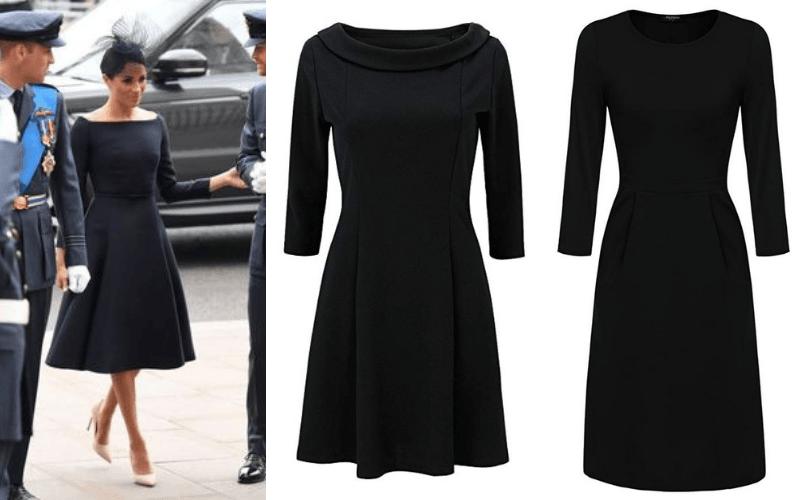 vestido negro meghan markle