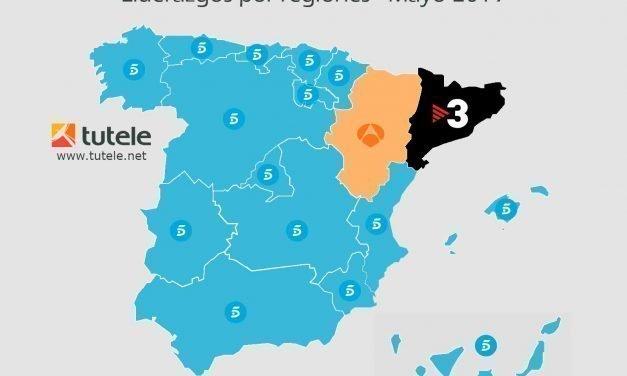 El mapa de las audiencias de mayo 2019