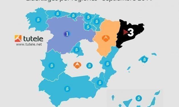 El mapa de las audiencias de septiembre 2019